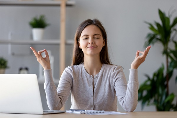 Meditation can help reduce work-related stress