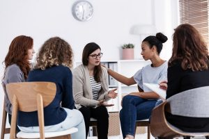 Group counselling can give clients experiencing PPD a space to safely share their emotions with others